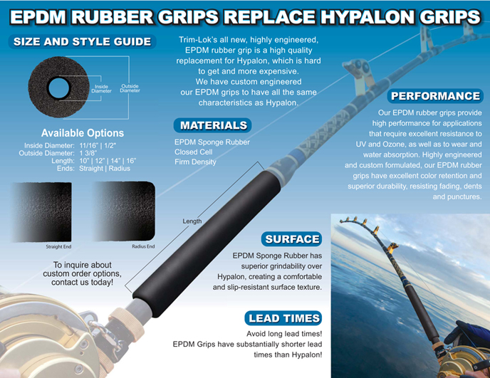 EPDM Fishing Rod Grips