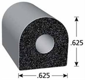 D-shaped EPDM Sponge Rubber Seal