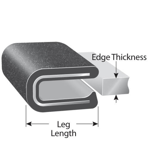 Rubber-Lok Clips: Rubber Edging for Metal & Other Applications