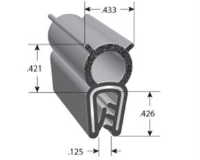Dual Durometer Edge Trim with Bulb