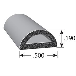 1543 Series half-round D rubber seal