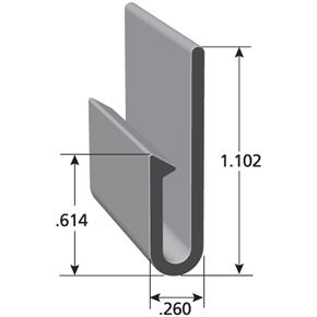 Automotive upholstery clip with measurements