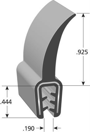 Rubber co-extruded flap trim seal DD1201 dimensions