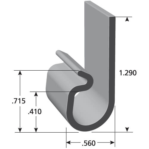 i11108 upholstery j clips trim lok. Black Bedroom Furniture Sets. Home Design Ideas