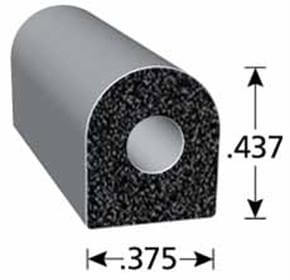 .375 x .437 self-adhesive rubber seal