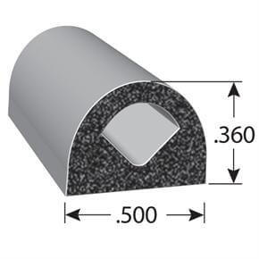 .360 x .500 d-shaped gasket