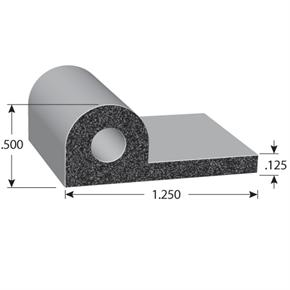 P-Shape Rubber Seal with BT or HT adhesive tape option illustrated image with dimensions